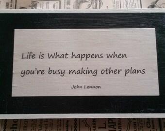 Wood Sign - John Lennon quote