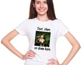Personalized Custom T Shirt - with Photo & Text or Logo on Shirt