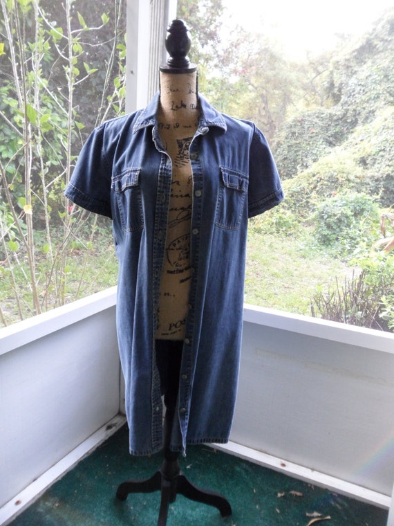 Used dresses old navy denim dress women denim shirt dress knee for Denim shirt women old navy