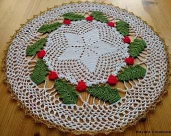 Christmas Place Mat/ Doily