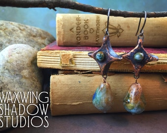 Tarazed: handmade ceramic earrings
