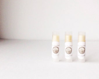 Lavender, 100% Organic Lavender Lip Balm, all natural, set of two or three