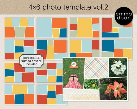 4x6 photo card template 4x6 storyboard template photobook album template scrapbook template. Black Bedroom Furniture Sets. Home Design Ideas