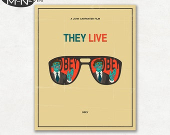 THEY LIVE Movie Poster, Fine Art Print