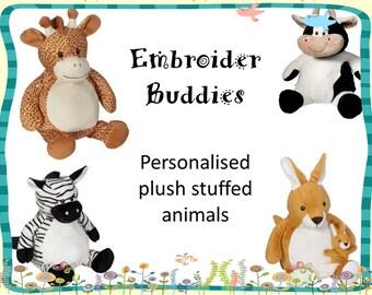 Embroider buddy personalised plush stuffed animal