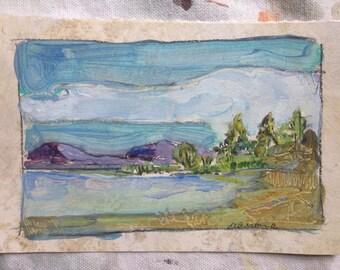 Purple Mountains - Original Art - Maine Landscape