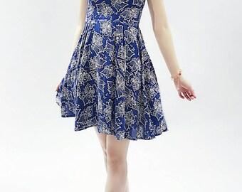 Pattern skirt with shoulder straps