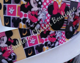 3 yards 1 1/2 inch minnie mouse grosgrain ribbon