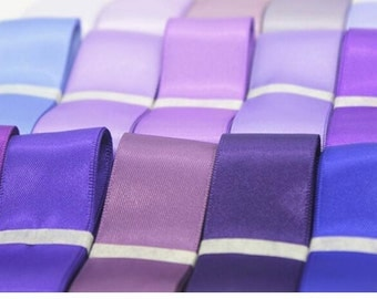 pure Satin Ribbon ,iris Trim, Craft, Wedding trimming, Cards ribbon sell by 100yards