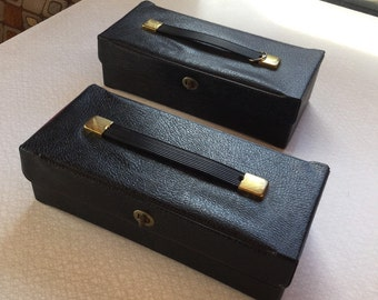 Two Vintage Cassette Tape Carriers Full of Cassettes