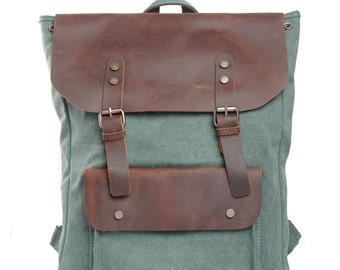 Diaper bag,Waxed canvas bag - Waxed canvas tote bag -Grey canvas laptop bag