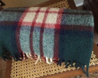 Vintage Wool O' The West Wool Plaid Blanket