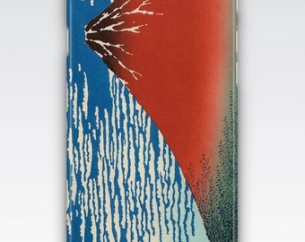 Case for iPhone 8, iPhone 6s,  iPhone 6 Plus,  iPhone 5s,  iPhone SE,  iPhone 5c,  iPhone 7  - Red Fuji Clear Morning by Hokusai