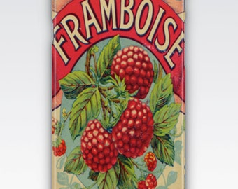 Case for iPhone 8, iPhone 6s,  iPhone 6 Plus,  iPhone 5s,  iPhone SE,  iPhone 5c,  iPhone 7  - Framboise Raspberries Vintage French Ad