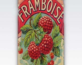 iPhone 6s Case, iPhone 6 Plus Case, iPhone 5s Case, iPhone SE Case, iPhone 5c Case, iPhone 7 case - Framboise Raspberries Vintage French Ad