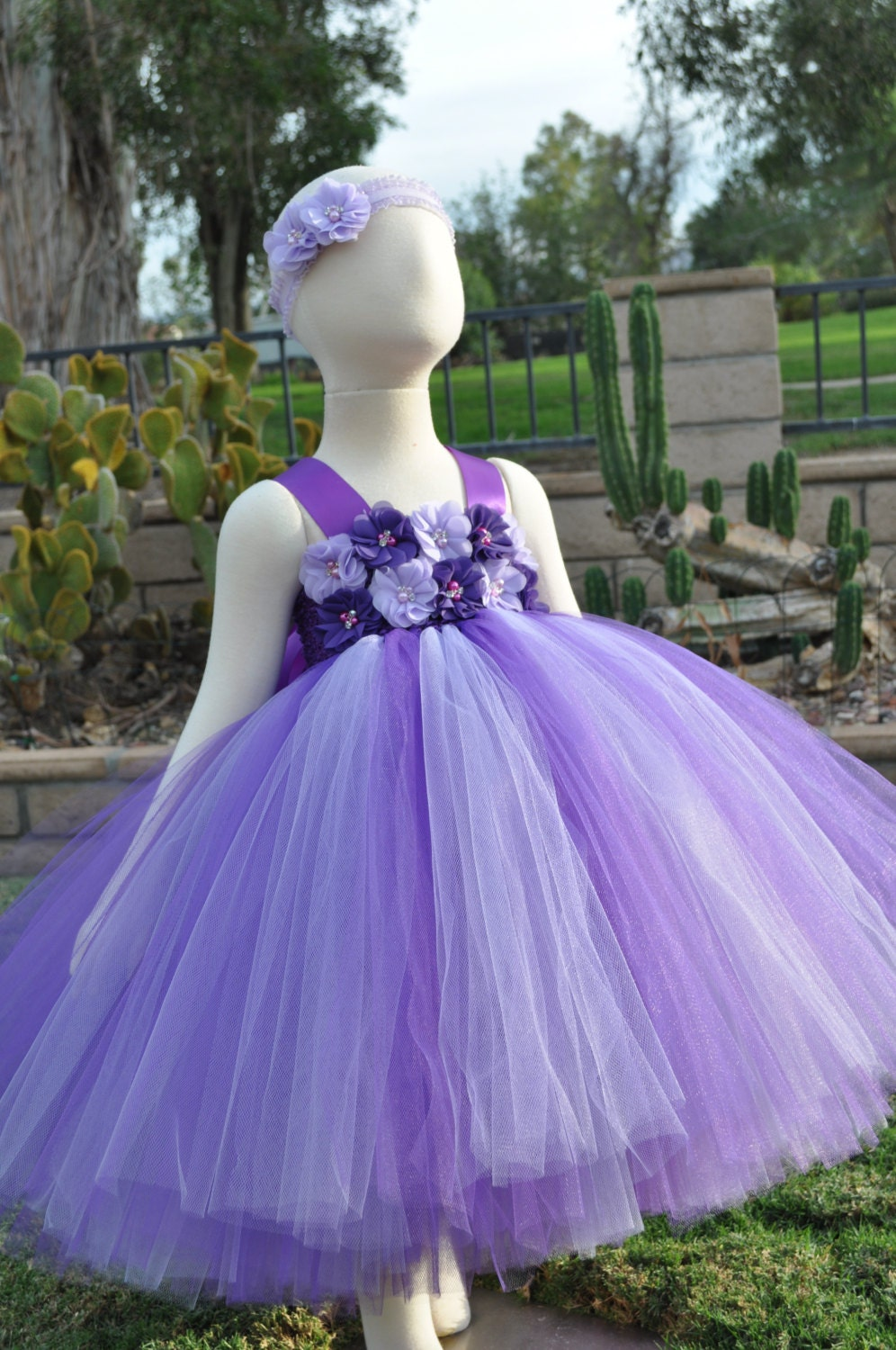 purple lavender flower girl dress purple lavender toddler. Black Bedroom Furniture Sets. Home Design Ideas