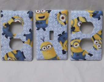 Minions Light Switch Plate Outlet Plug Cover Set Custom