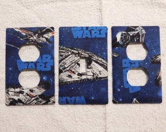 Star Wars Light Switch Plate Outlet Plug Cover Custom Wall Rocker Cable Protective Plug Inserts