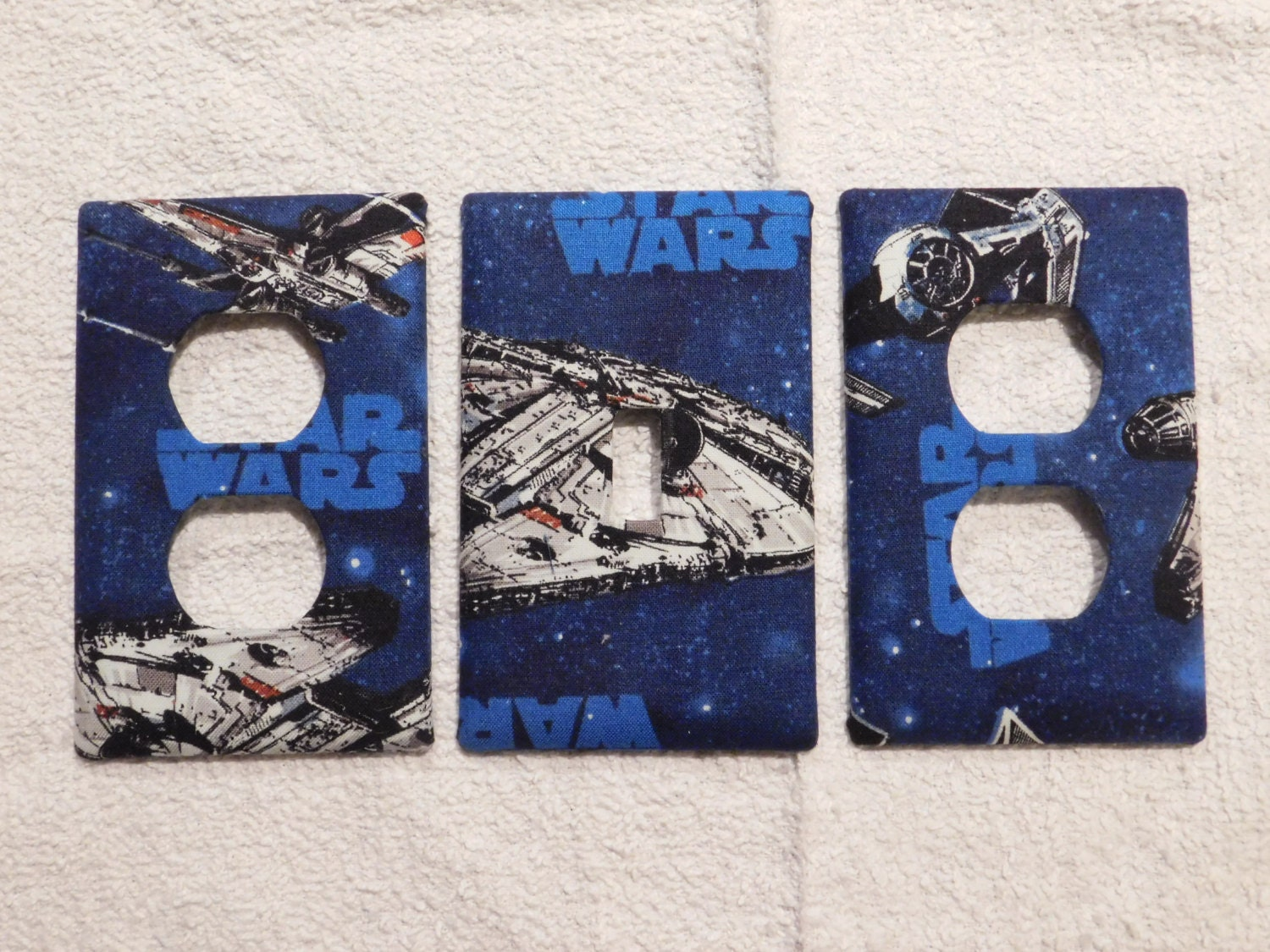 Custom Wall Plate Covers: Star Wars Light Switch Plate Outlet Plug Cover Custom Wall