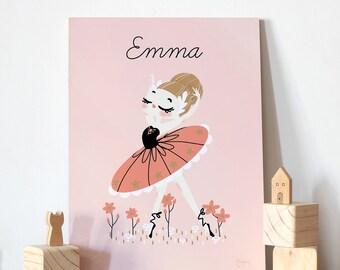 Personalized children  Wall Art - the prima ballerina
