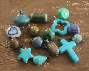 Gemstone Additions- Personalize Any Necklace In My Store!