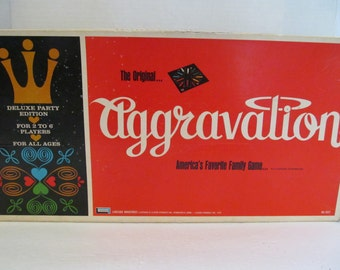 Aggravation Game - Vintage Board Game, Complete