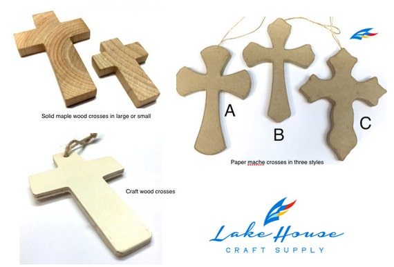Variety religious crosses wood cross by lakehousecraftsupply for Wooden craft crosses wholesale
