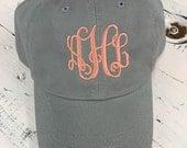 Monogrammed cap, monogrammed hat, baseball cap, monogrammed baseball hat, hat, cap