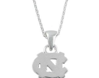 UNC Silver Necklace, UNC Jewelry, Tar Heel Jewelry, Carolina Jewelry, UNC-6118