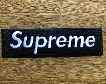 New  Black Supreme Clothing- Iron on Embroidered Patch