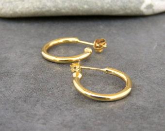 Gold hoop earrings, Hoop earrings gold, Hoop earrings, Open hoop earring, Everyday jewelry