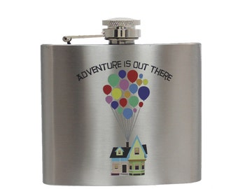 Stainless Steel Flask - Adventure Is Out There Design 5oz