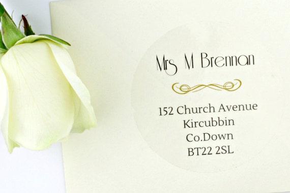 Wedding Invitation Mailing Labels: Wedding Envelope Address Labels Return And Guest Addressing