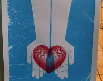 Heart In Hands Art Print