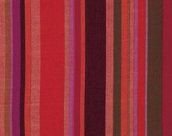 1/2 yard Kaffe Fassett Roman Stripe Blood Orange fabric