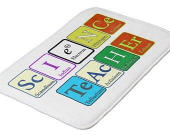 Custome Science Teacher / Chemistry Teacher of PhD Molecule Bath Mats -