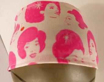 Retro Pink Lady Headband