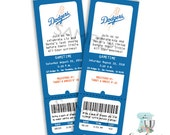 Baby Shower Invitation LA Dodgers Inspired *Professionally Printed*