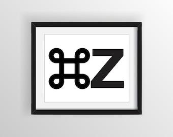 Control + Z 8x10 print