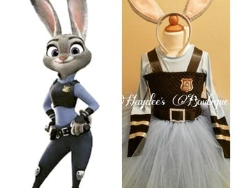 Zootopia Judy Hopps Tutu Dress