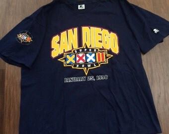 Vintage San Diego superbowl tshirt