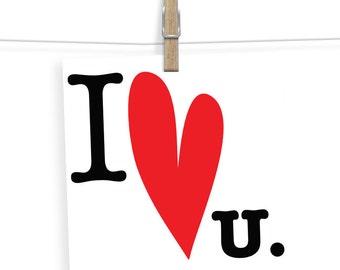 Valentines Card - Valentine's Day Card - Valentine Card Him - Valentine Card Her - I Love You Card - Love Card - Wedding Card - Anniversary