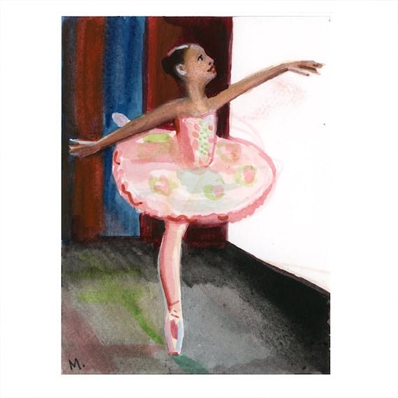 "Small Nutcracker Painting 4 1/2""x6"" - Dewdrop"