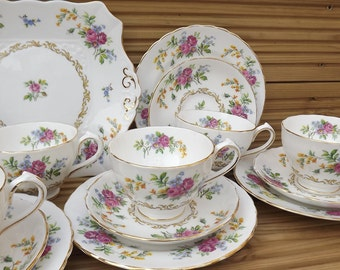 Vintage New Chelsea Tea set for 6