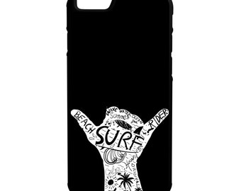 Surf Beach Life iPhone Galaxy Note LG HTC Hybrid Rubber Protective Case