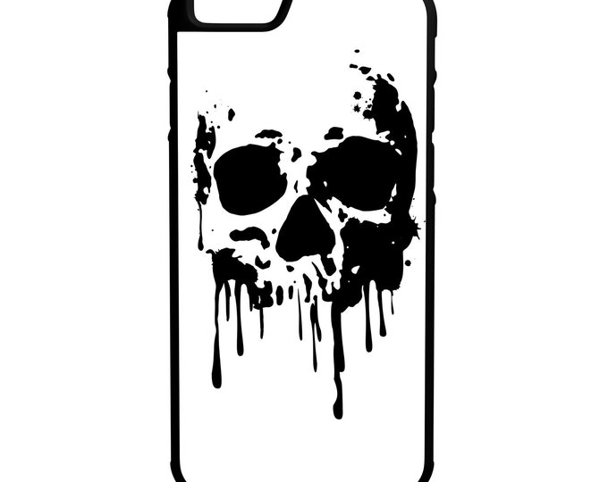 Dripping Skull  iPhone Galaxy Note HTC LG Hybrid Rubber Protective Case