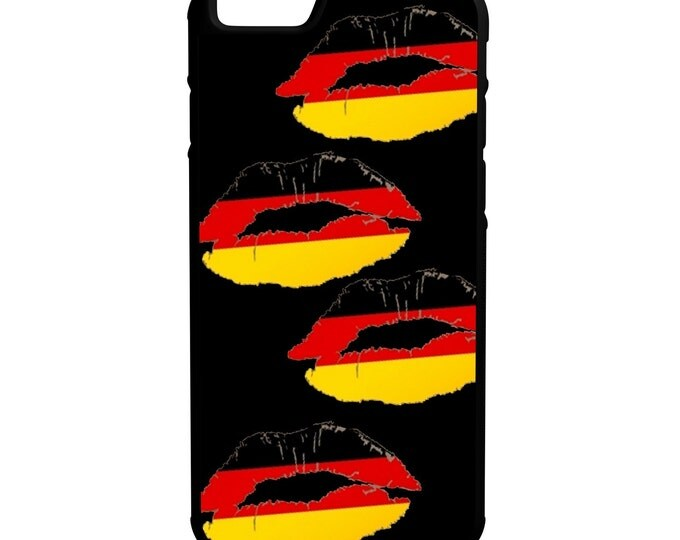German Flag Lips iPhone Galaxy Note LG HTC Hybrid Rubber Protective Case