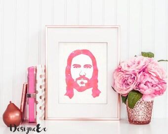 Watercolor Print - Jesus Christ