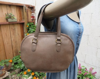 Coach 9958 Pelham Domed Bowler Bag Brown Leather Satchel Purse Handbag Tote Made in USA