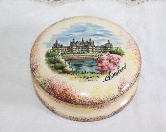 Vintage Trinket Box, Ring Box, Ceramic Trinket Dish, Ring Holder, Jewelry Box, Ceramic Box, Ring Bearer, Jewelry Holder, Chateau Chambord